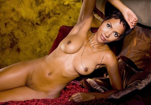 halle berry half naked