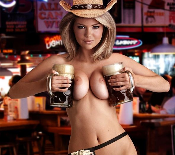 The Beer and boobs nude