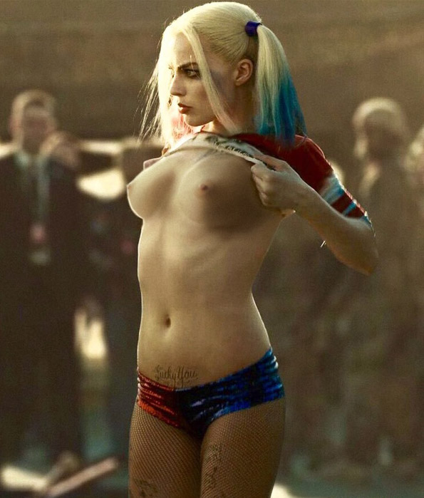 margot robbie topless