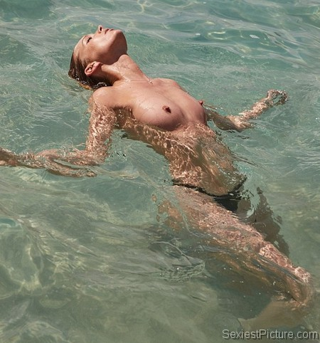 Elsa Hosk topless photo shoot