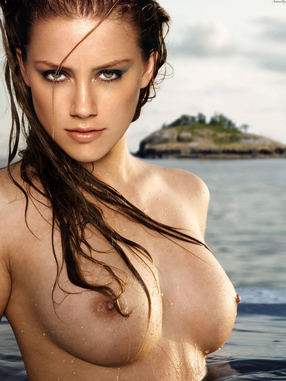 Amber Heard Topless amber heard topless nude boobs wet celebrity leaks | free