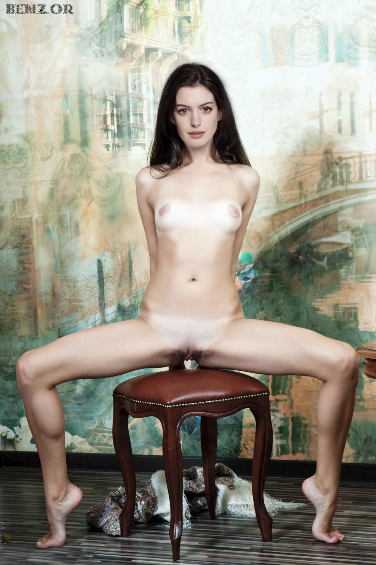 anne hathaway naked legs
