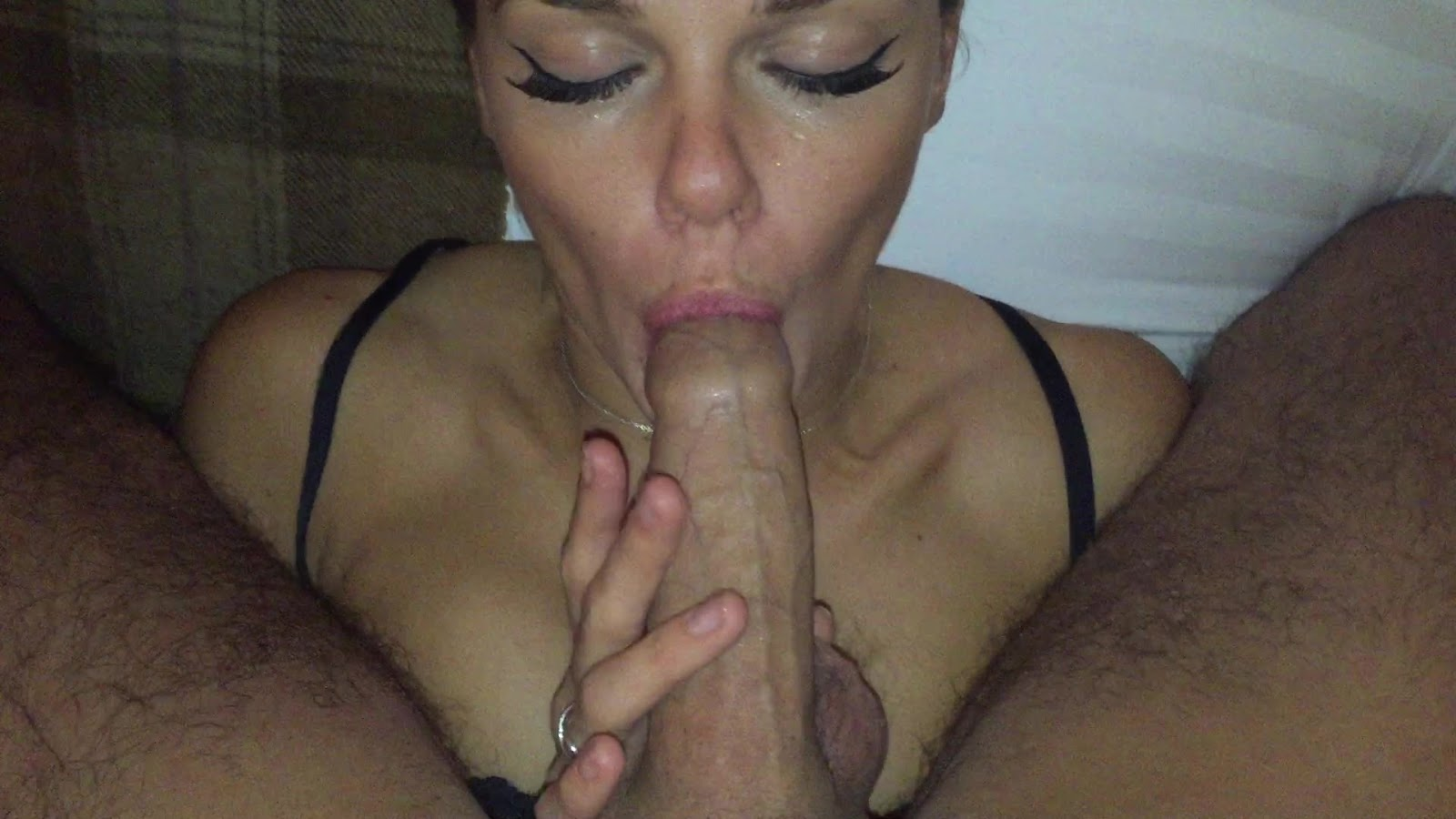Mom holds sons cock to piss