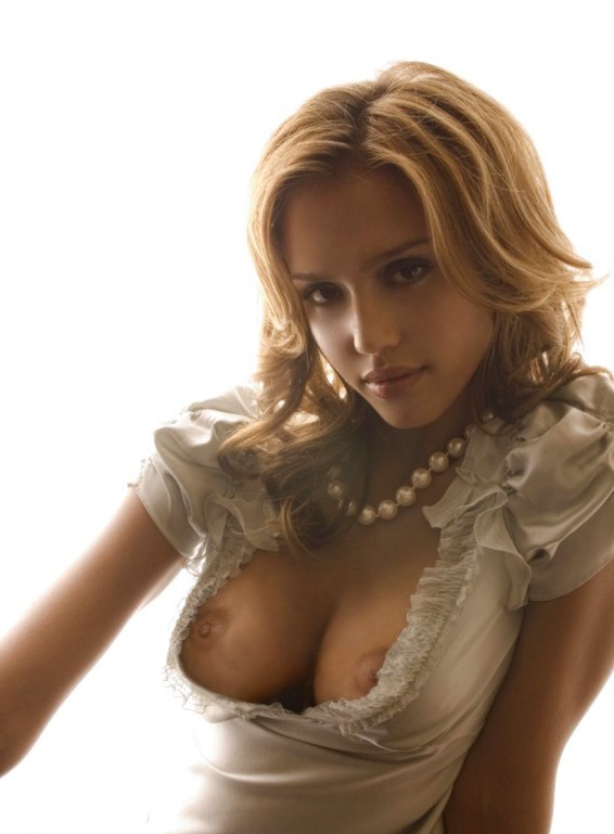 alba nude boobs Jessica