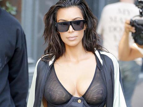 kim kardashian nude in public