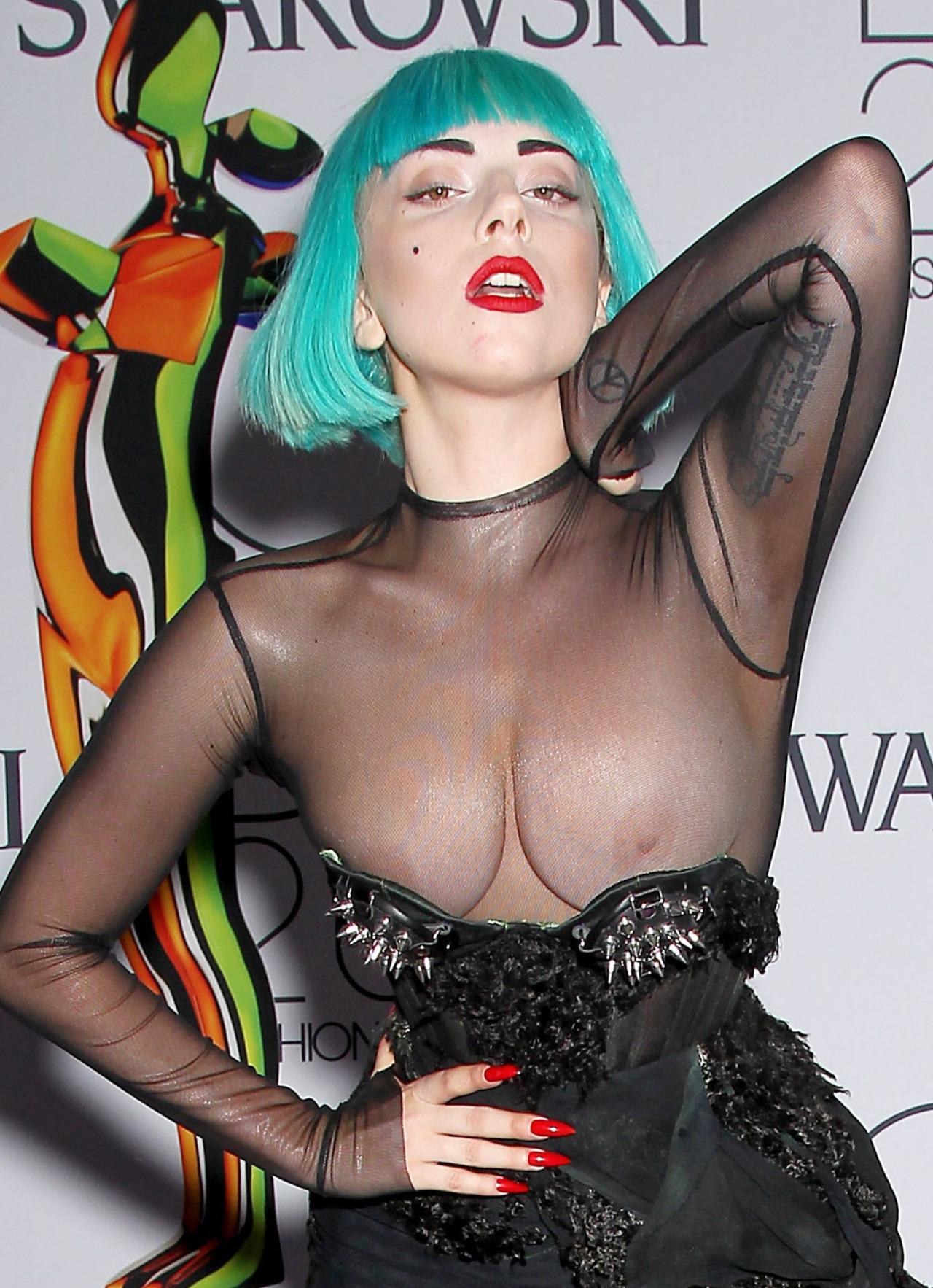 Lady Gaga Wardrobe Malfunction Nude Topless Boobs Big Tits -6180