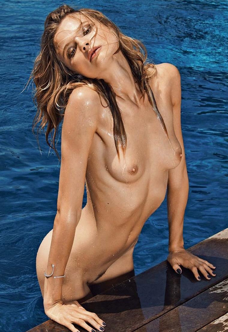 Magdalena Frackowiak In A Sexy Nude Back White Dress