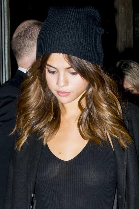 Selena Gomez Boobs Tits Nipples See Through Top No Bra  Celebrity Leaks Scandals Sex -5271