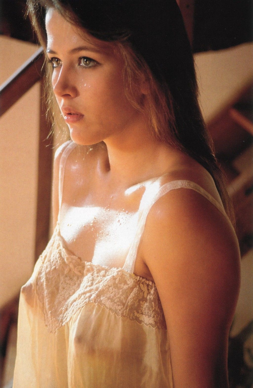 Sophie Marceau lingerie see through boobs big tits sweat ...