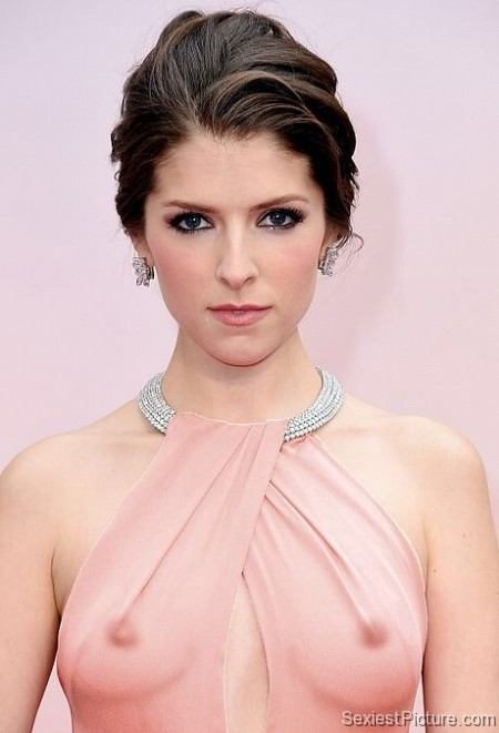 Anna Kendrick see through dress boobs tits nipples