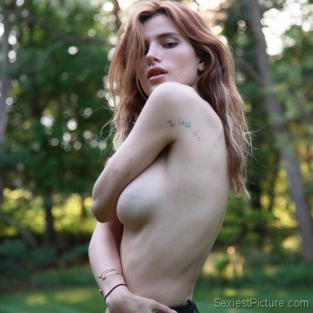 Bella Thorne topless