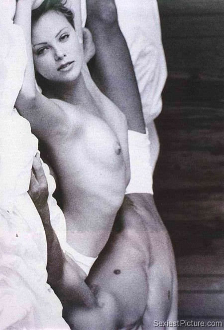 Charlize Theron nude naked bed boobs big tits