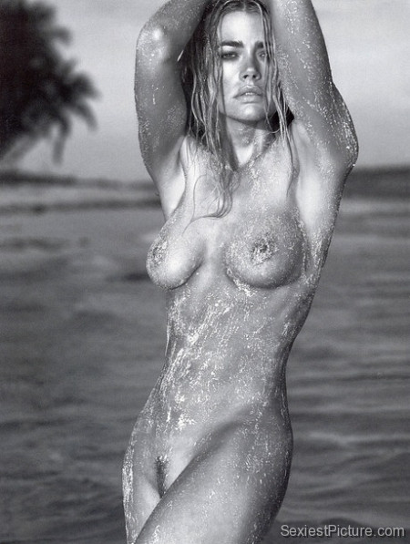 Denise Richards nude naked boobs big tits pussy beach
