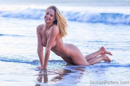 Genevieve Morton nude naked model boobs big tits pussy ass beach
