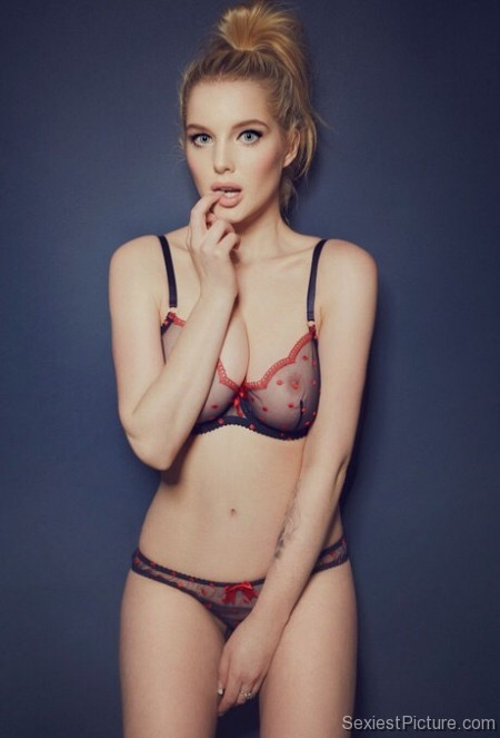 Helen Flanagan Sexy See Through Lingerie Bra Panties Boobs Tits Pussy