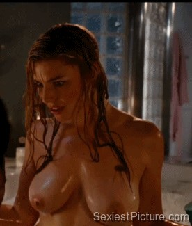 Jessica Pare nude naked wet boobs big tits