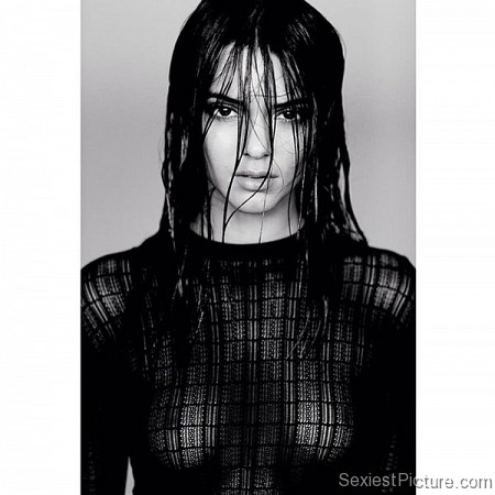 Kendall Jenner see through boobs tits wet