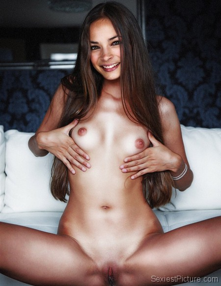 Kristin Kreuk naked boobs and pussy legs spread