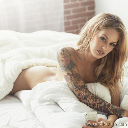 Lisa Marie nude naked bed sexy amazing tattoos