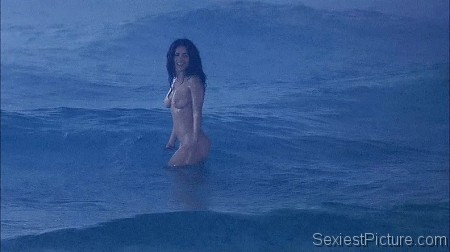Salma Hayek naked swimming