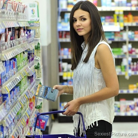 Victoria Justice shopping buying condoms